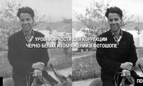 Уровни яркости для коррекции черно-белых изображений в фотошопе