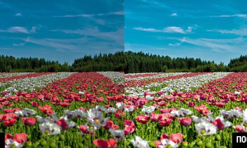улучшение контрастности и яркости фото