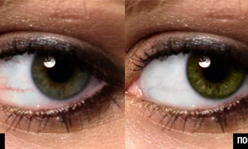 ретушь глаз в фотошопе