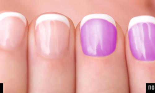 замена цвета ногтей