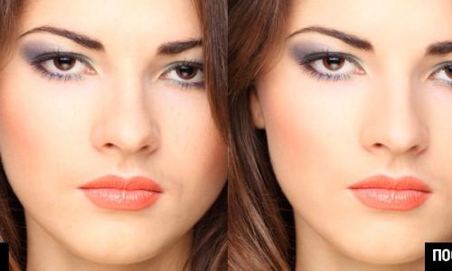 косметическая ретушь в фотошопе